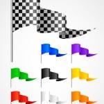 Sport triangular flag — Stock Vector