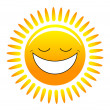 Stock Vector: Happy sun