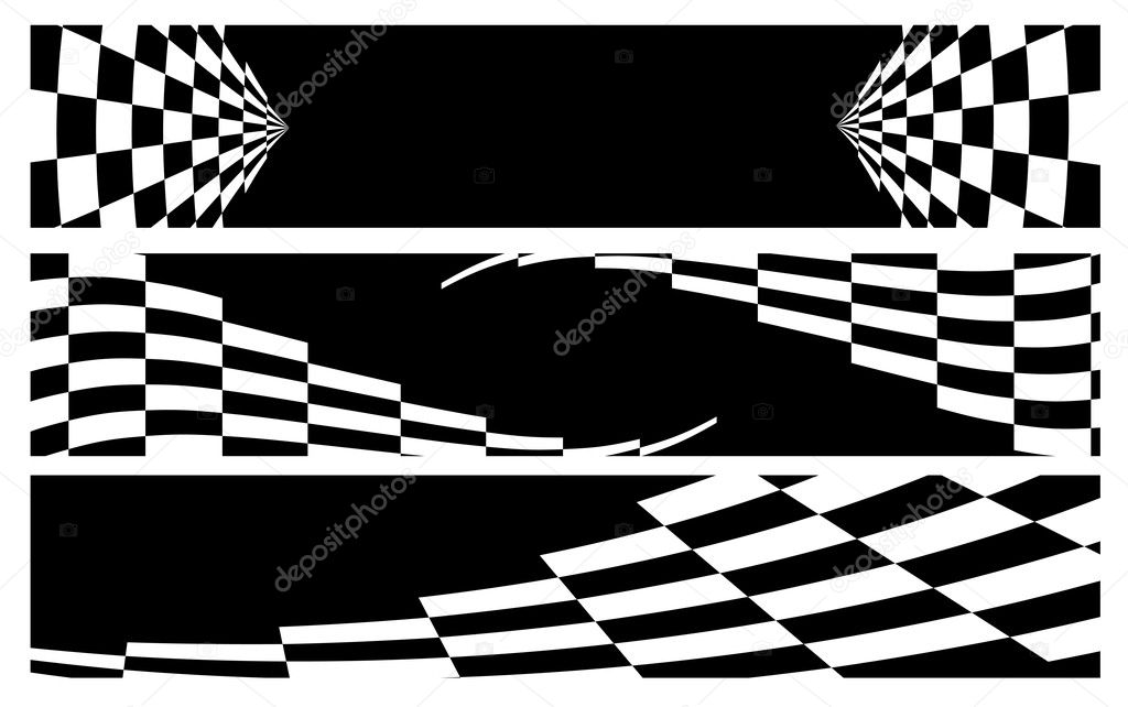 Black And White Banner Vector Black Amp White Racing Banner