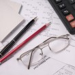 Foto Stock: Still Life Accountant
