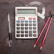 Calculator, pencil, pen — Stock Photo #3759066