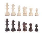 A set of black and white chess pieces — Stock Photo