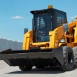 Skid steer loader construction machine — Stock Photo #3065416