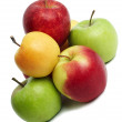 Group of coloured fresh apples — Stock Photo