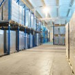 Warehouse with rack arrangement - Stock Photo
