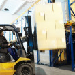 Warehouse loader forklift — Stock Photo