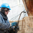 Stock Photo: Welder working with gas torch