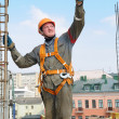 Builder worker at construction site — Stock Photo #3245691