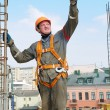 Stock Photo: Builder worker at construction site