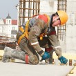 Stock Photo: Builder making construction works