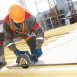 Builder making construction works - Stockfoto