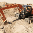 Wheel excavator loader - Stock Photo