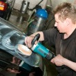Stock Photo: Car polishing worker