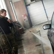 Stock Photo: Car cleaning with pressured water