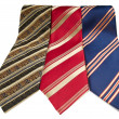 Man stripped ties isolated — Stock Photo
