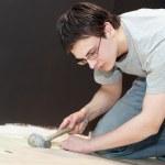 Home flooring works — Stock Photo