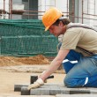 sidewalk pavement construction works — Stock Photo #3246357