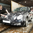 Stock Photo: Manual car washing