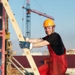Tvůrce na staveništi — Stock fotografie