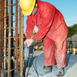 Worker builder and concrete formwork - Lizenzfreies Foto