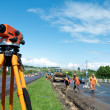Surveyor equipment level theodolite — Stockfoto