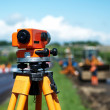 Surveyor equipment level theodolite - Stock Photo