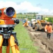 Stock Photo: Surveyor equipment level theodolite