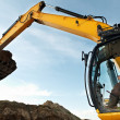 Excavator loader works — Stock Photo
