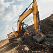Excavator loader in construction sandpit area — Stock Photo #3247668