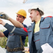 Acceptance of work engineer accept construction works — Stock Photo