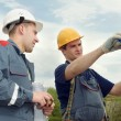 Engineer accept construction works — Stock Photo #3247861