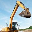 Loader excavator in a quarry — Stock Photo #3247876