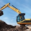 Loader excavator in a quarry — Stock Photo