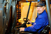 Loader worker at warehouse — Stock Photo