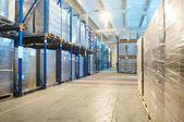 Warehouse with rack arrangement — Stock Photo