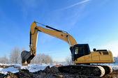 Loader excavator machine — 图库照片