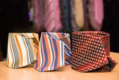 Three man ties collection — Stock Photo