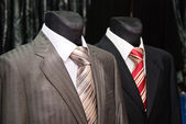 Business suit and ties on a dummy — Stock Photo