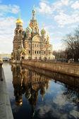 上溅出的血,圣 · 彼得堡救世主大教堂 — 图库照片