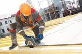 Builder making construction works — Foto de Stock
