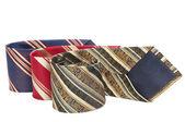 Man accessory neckties isolated — Stock Photo