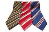 Cravates homme dépouillé isolés — Photo