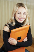 Portrait of smiling woman — Stock Photo