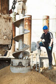 Piling construction works — Stock Photo