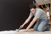 Home flooring works — Stock Photo