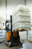Warehousing truck at work — Stock Photo