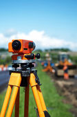 Surveyor equipment level theodolite — Stok fotoğraf