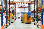 Warehouse truck loader works — Stockfoto