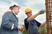 Engineer accept construction works — Stock Photo