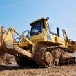 Stock Photo: Heavy bulldozer with ripper